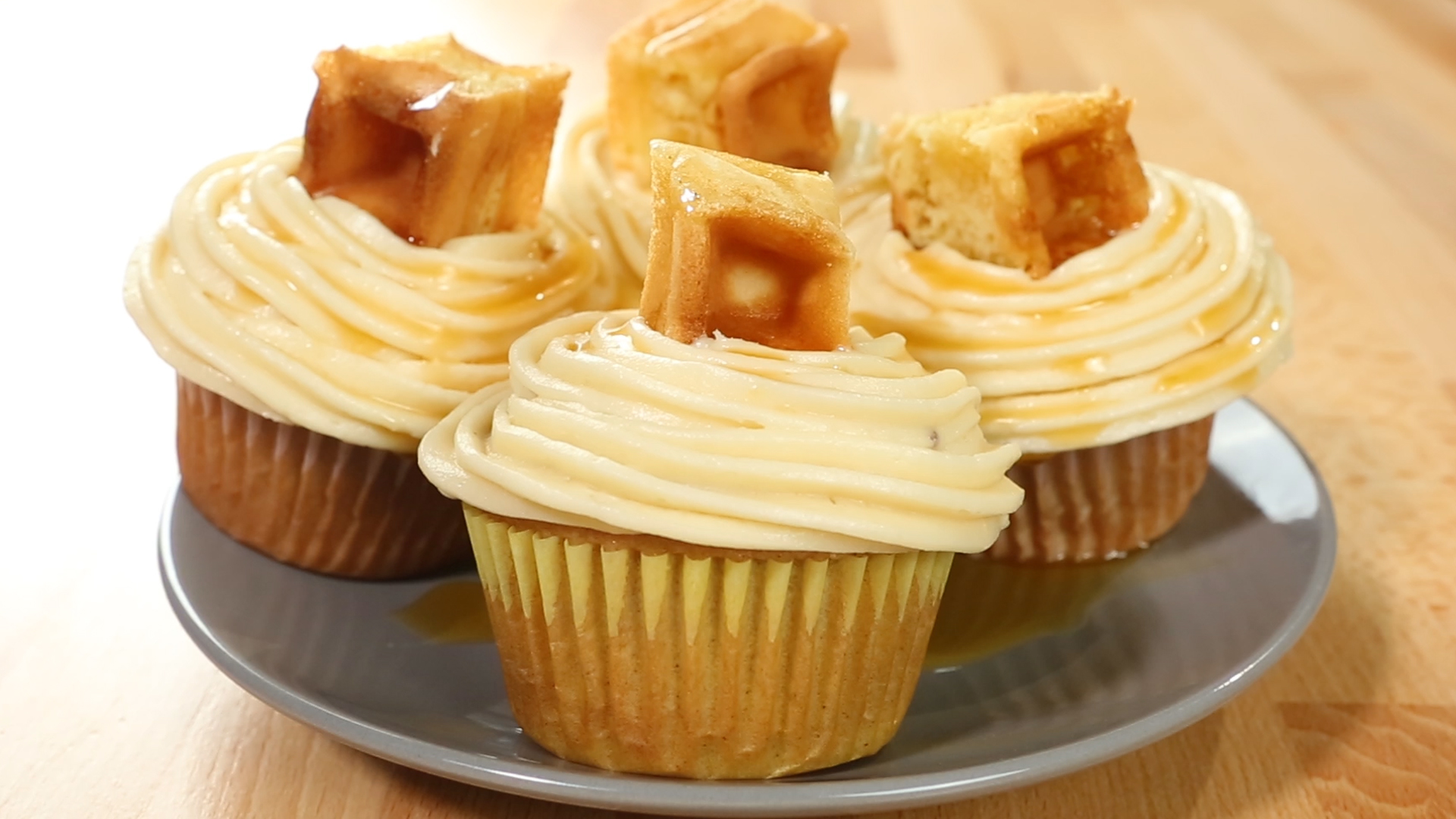 Chicken & Waffle Cupcakes